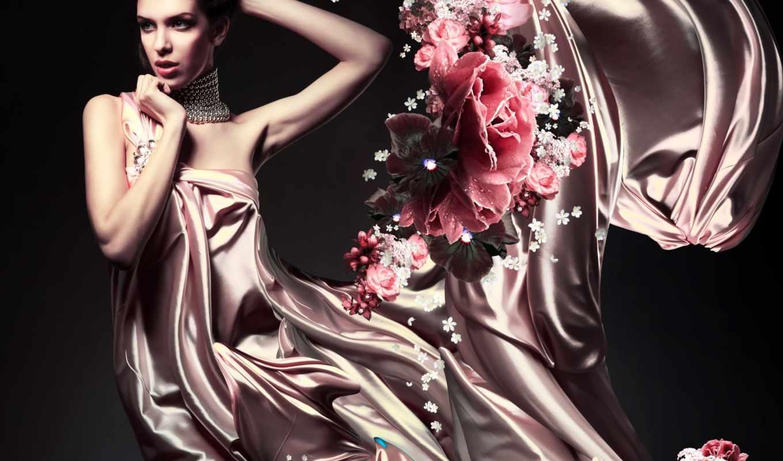 девушка, женщина, красивая, платье, women, клипарт, растровый, платьях, devushki, ветру,