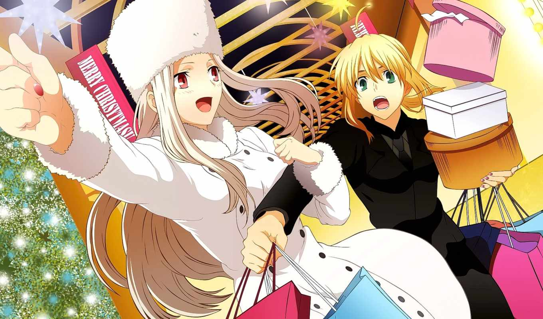 anime, irisviel, девушка, zero, fate, shirou, картинка, изображение,