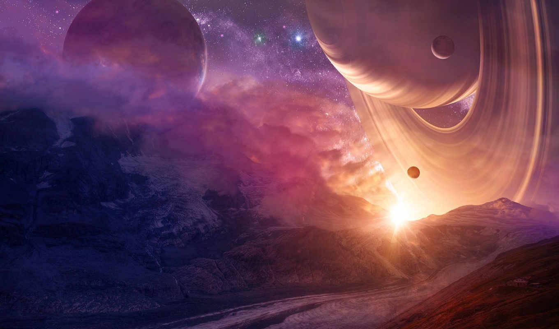 планеты, звезды, house, planet, stars, mountains, горы, кольца, space, телефон,