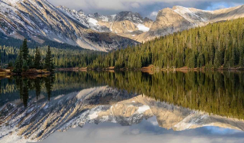 горы, peak, янв, февр, красивые, природы, colorado, озеро,