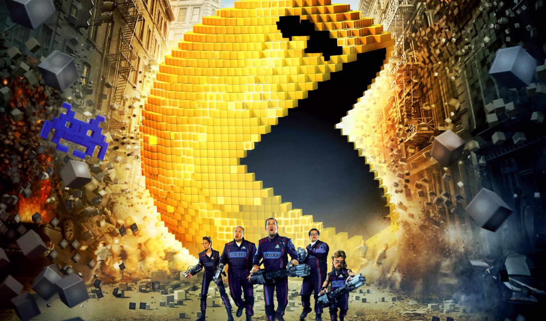 пиксели, фантастика, pixels, июл, сниматься, кадры, плакат, об, команда, фильма, фильмы,