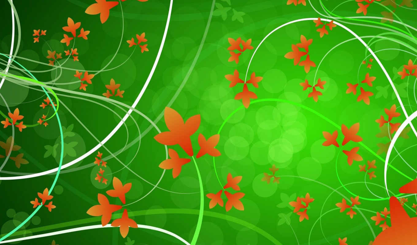 leaves, background, green, vector, desktop, image, download, графика, flowers, цветы, psd, vectors, ipad, click, autumn,