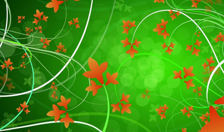 leaves, background, green, vector, desktop, image, download, графика, flowers, цветы, psd, vectors, ipad, click, autumn,