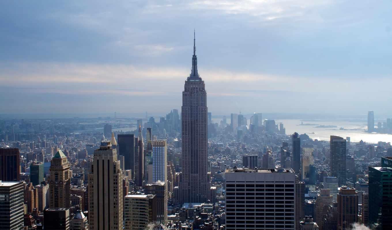зима, йорк, нью, город, new, небоскребы, стейт, эмпайр, билдинг, картинка, картинку, empire, кнопкой,