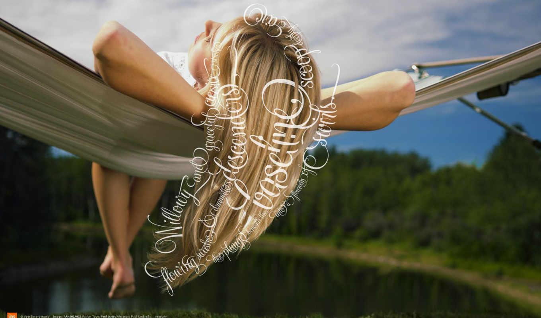 blonde, природе,