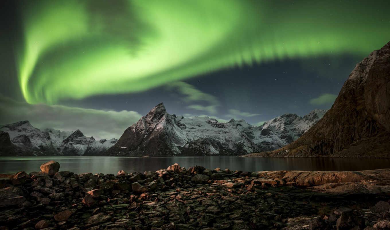 северное, сияние, норвегия, ночь, увидеть, лофотенские, норвегию, острова, северную, отправляйтесь,