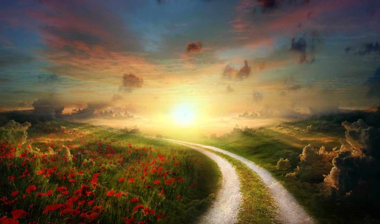 утро, природа, landscape, день, early, scenery, хороший,