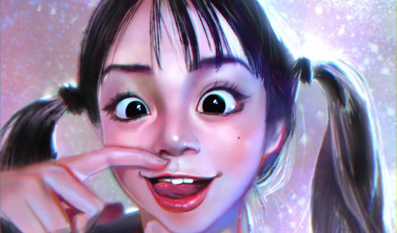 Смешная рожица картинка девочка, картинки аву контакте