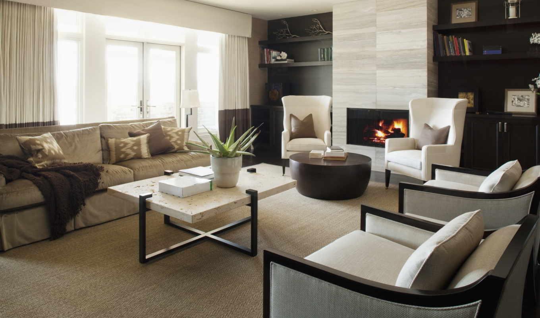 интерьер, дизайн, комната, стиль, диван, квартира, кресло, камин, огонь, дома, картинку,