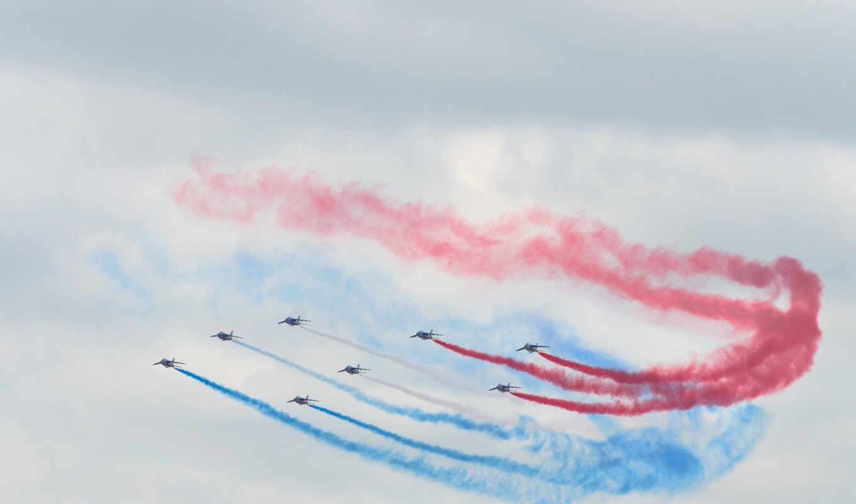 авиация, небо, самолеты, дым, самолёт, картинка,