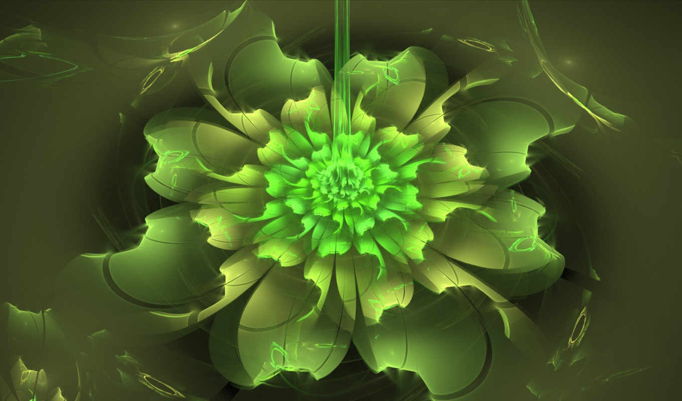 flower, abstraction, neon,