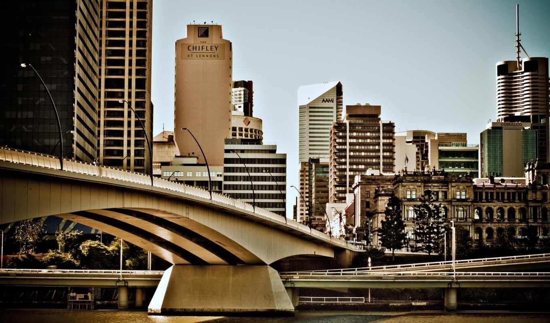 австралия, город, красивых, брисбен, девушек, мост, подборка,