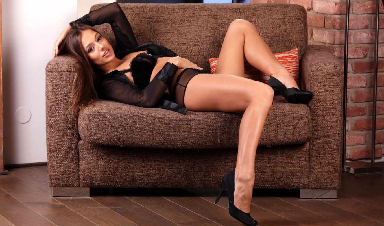 dominika, chybova, девушки, красивая, голая, брюнетка,