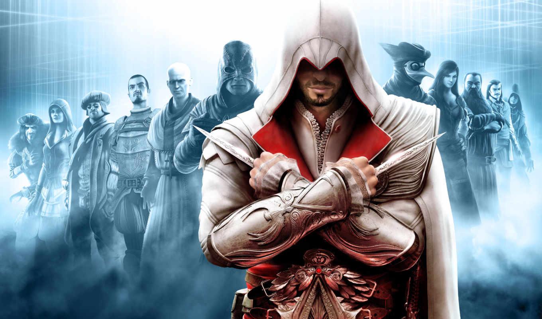 creed, assassin, assassins, brotherhood, игры,