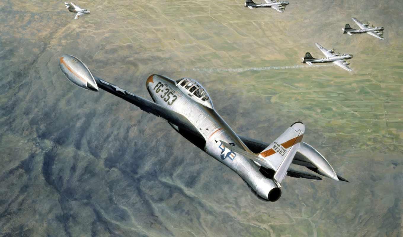 thunderjet, республика, истребители, истребитель, was, авиация, полет, war, фотографий, самолеты,