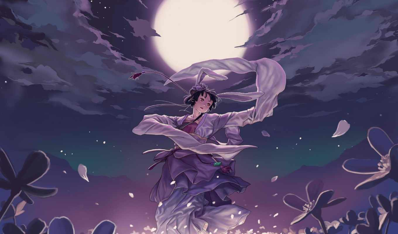 anime, art, geister, тян, танцующая, девушка,