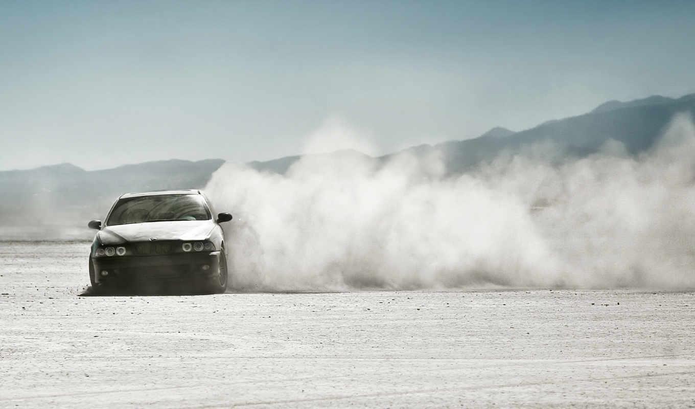 drift, bmw, пустыня, пыль,
