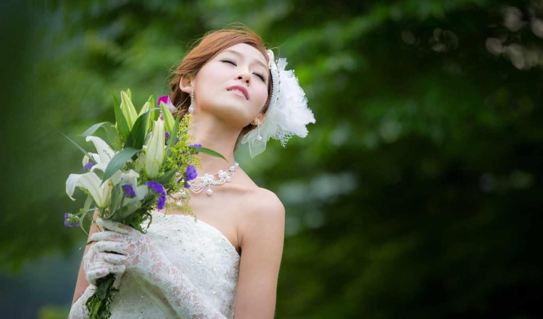 невеста, свадебный, вектор,