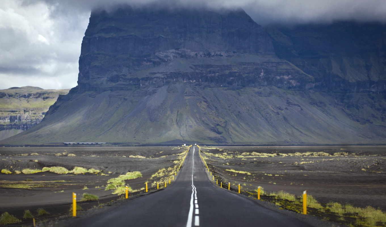 landscape, дорога, гора,