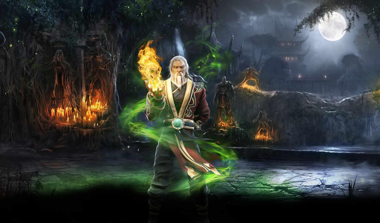 магия, лес, kombat, mortal, shang, tsung,