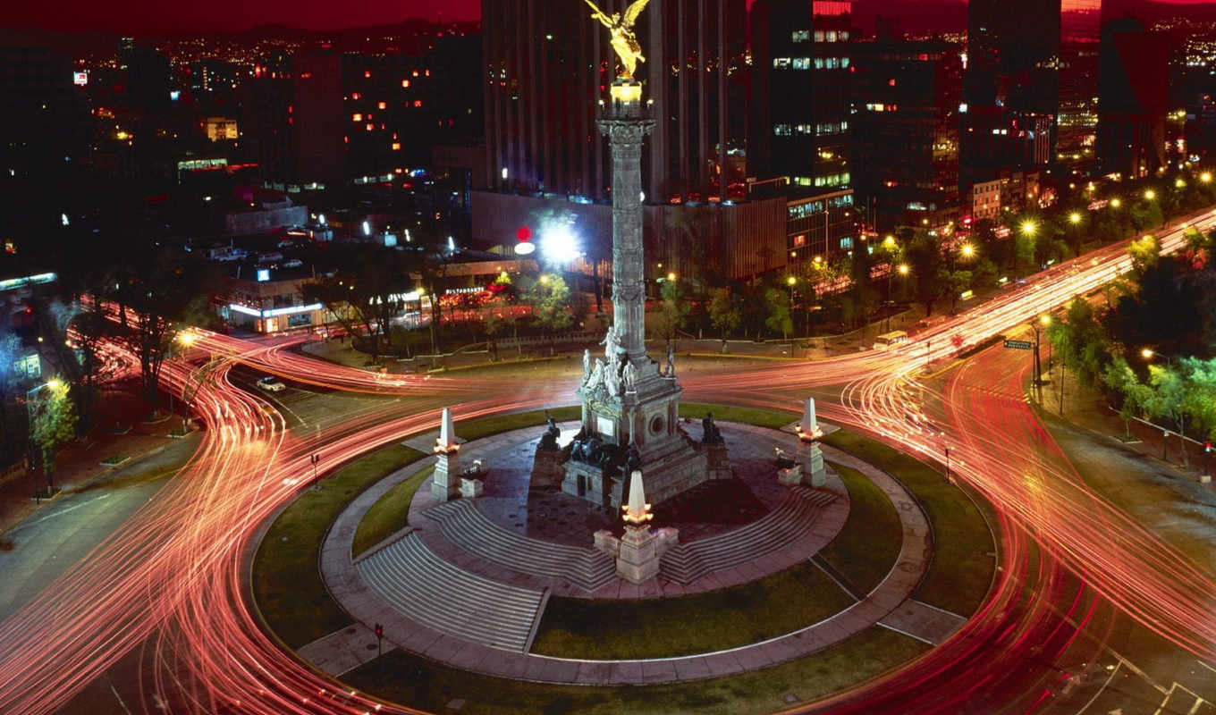 city, mexico, lights, night, wallpapere, independencia, del, angel, para, берлин, concert,