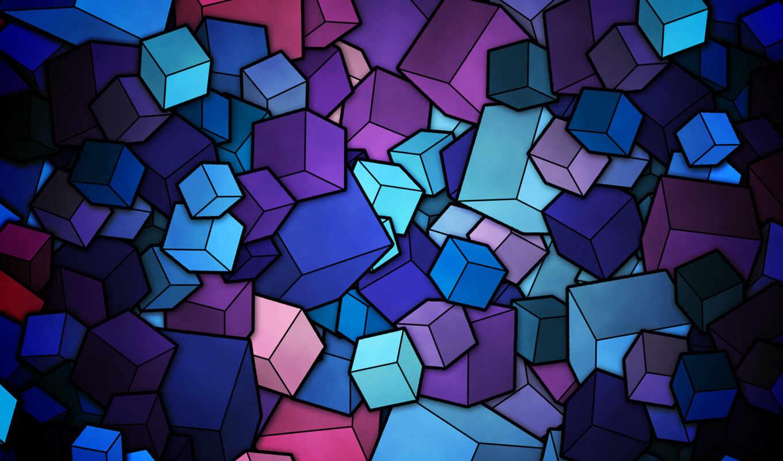 вектор, кубики, фигуры, color, картинка, линии, абстракция, cubes, абстракции, рисунок,