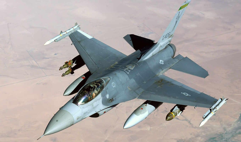 fighting, falcon, самолёт, истребитель, general, dynamics, их, американский, самолеты, военный,