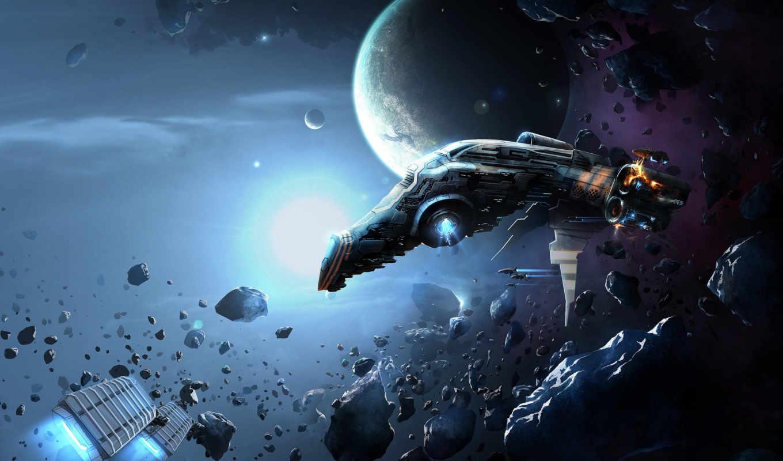 eve, online, космический, корабль, планеты, звезды, desktop, array, hintergrundbilder,