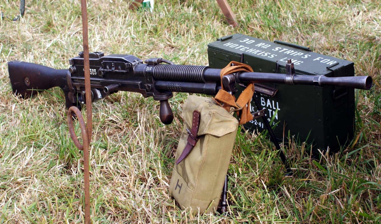 оружие, пулемет, гочкис, ящик, патроны