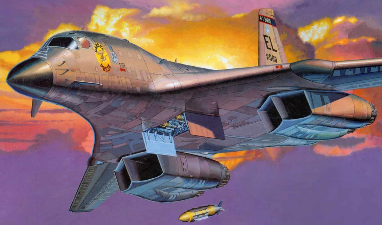бомбардировщик, lancer, американский, авиация, сверхзвуковой, тяжелый, flying, fortress, стратегический,