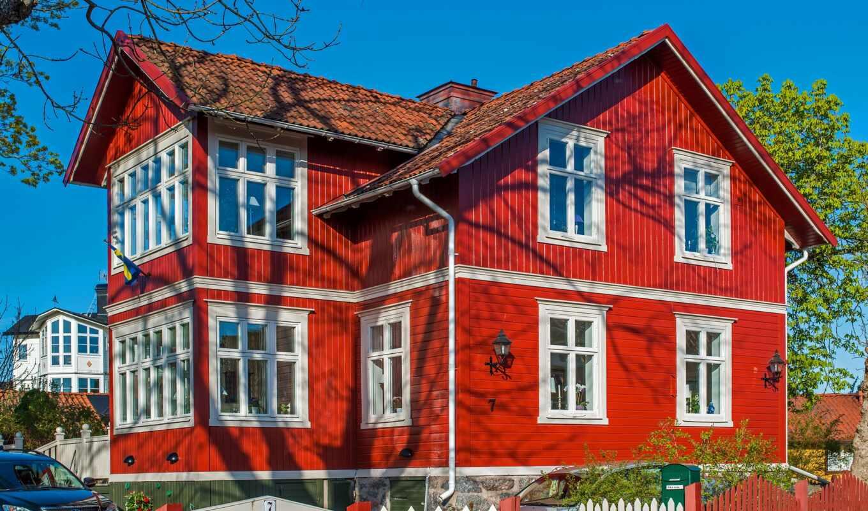 house, красное, фасад, сонник, wooden, red, dream, brick