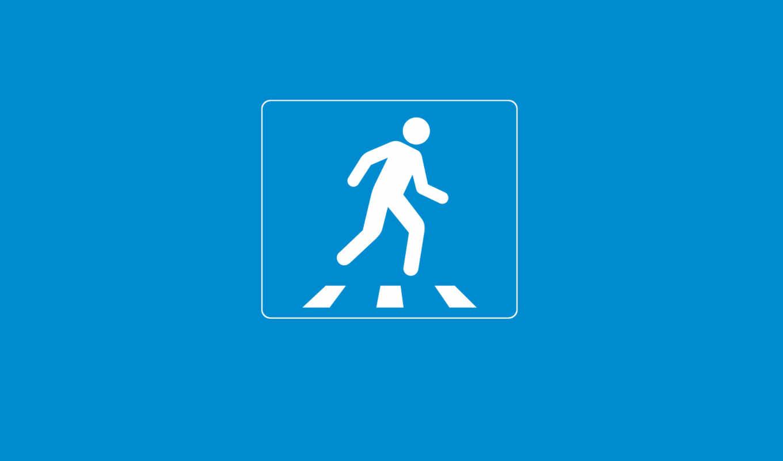 минимализм, дорожный, знак, человек, зебра, креатив, голубой, внимание, переход, пешиходный, walls,