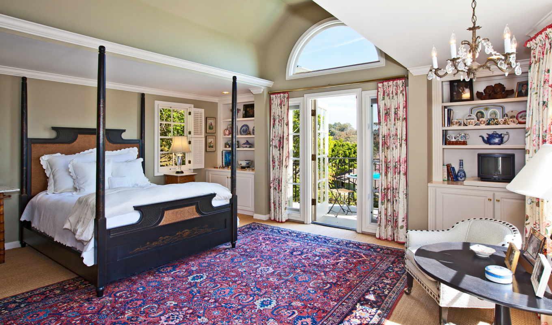 интерьер, вилла, спальня, кровать, дом, комната, ковёр,