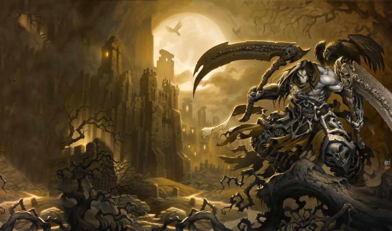 darksiders, игры, смерть,