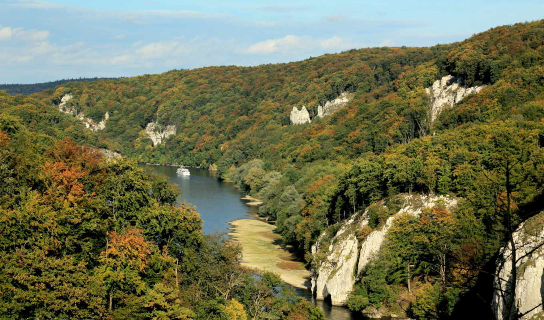 германия, природа, landscape, бавария, реки, река,