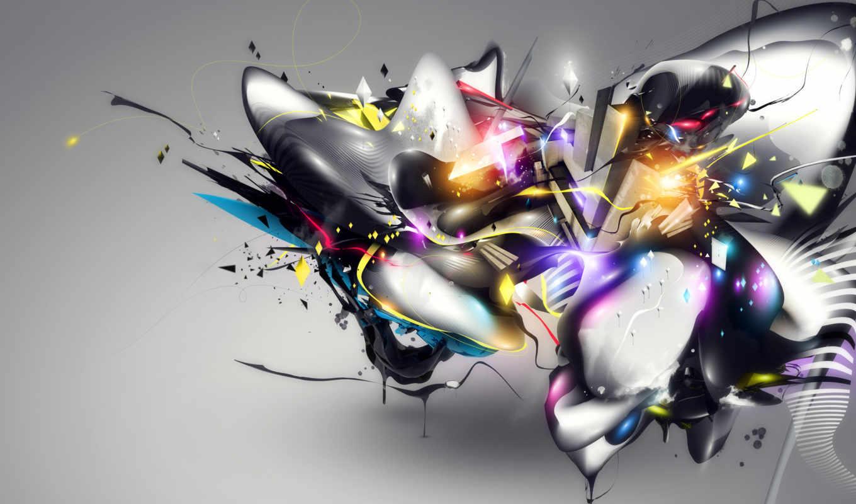 абстракция, заставки, фоновые, графика, линии, картинка,