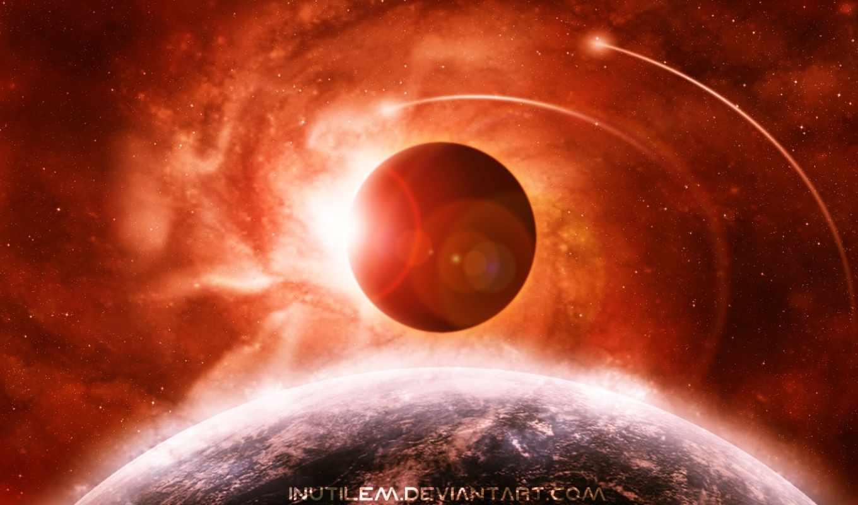 eclipse, солнечный, earth, pack, космос,