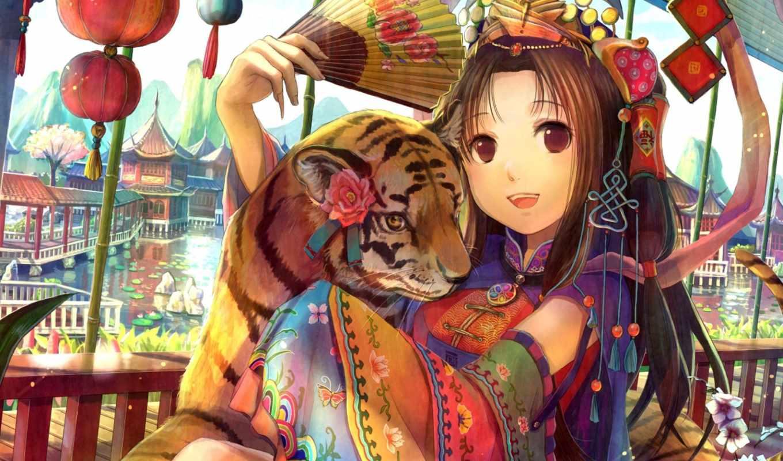 anime, кошки, фламенко, zhivotnye, кафе, друзья, кот, девушка, boy,