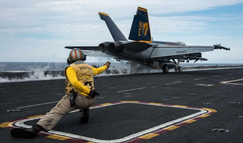 самолёт, takeoff, hornet, реактивный, douglas, mcdonnell, авианосец, истребитель