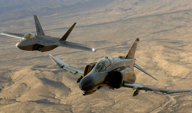 raptor, полет, phantom, высота, авиация, картинка, avia, мощь, небо, истребители, американцы, пустыня, самолёт, event, index, yf,