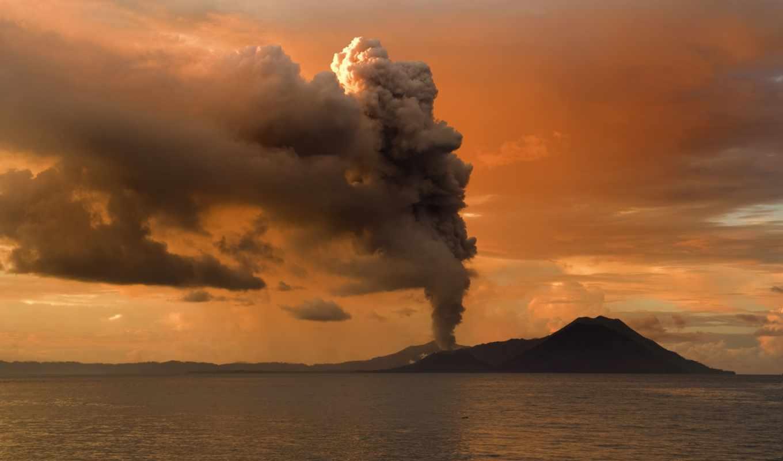 вулкан, вулканы, вулкана, море, извержение,