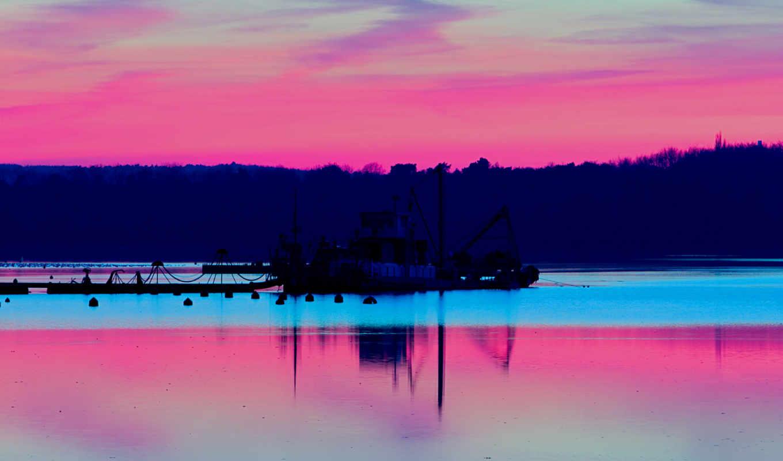 красивых, девушек, природа, небо, подборка, розовый,