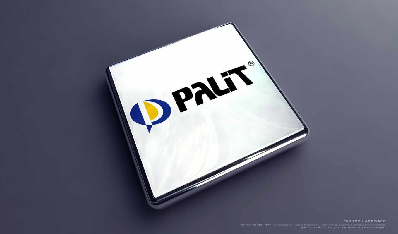 palit, лого, 3д, прямоугольный