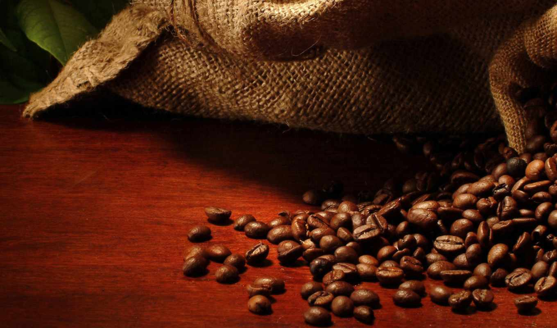 coffee, beans, мешок, desktop, листья, und, офис, сервис,
