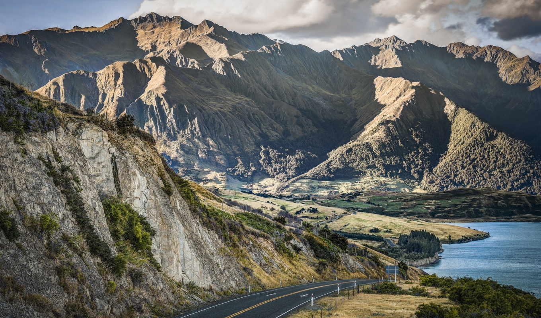 otago, new, zealand, дорога, горы, природа, картинку, der, картинка, neuseeland, кнопкой, ней, правой, скачивания, landscapes, выберите, gebirge, strae, save, мыши, landschaften,