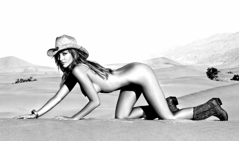 devushki, scott, emily, шляпа, сапоги, голая, пустыне, эмили,