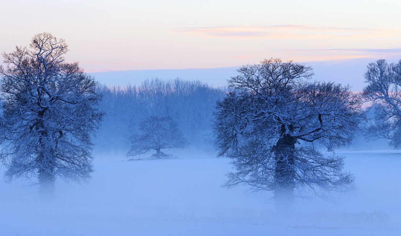 winter, небо, oblaka, панорамный, панорама, дымка, снег, картинка,
