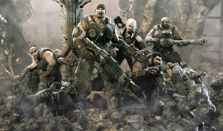 игры, war, gears, xbox, портал,