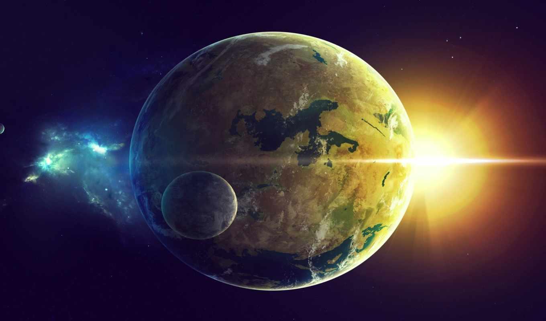 cosmos, sun, космоса, картинка, land, планеты, sci, planet,
