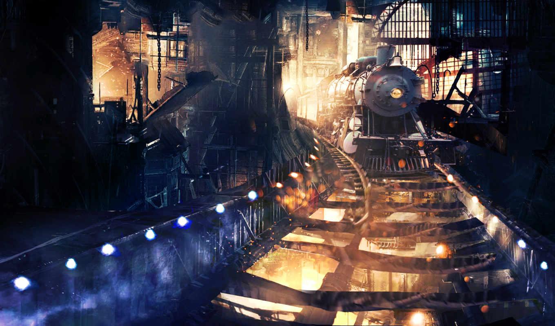 поезд, поезда, тоннеле,